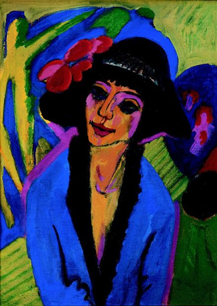 Kirchner, Ernst Ludwig: Portrait of Gerda. Fine Art Print/Poster. Sizes: A4/A3/A2/A1 (00494)